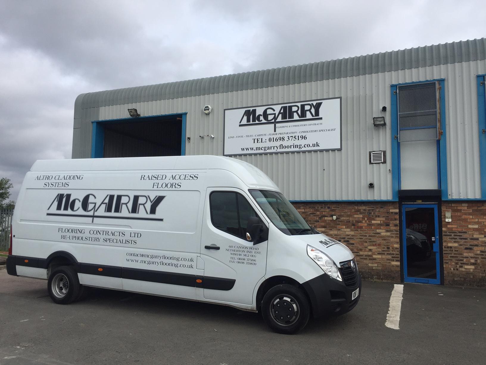 mcgarry flooring van